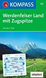 Werdenfelser Land mit Zugspitze: Wandern / Rad. GPS-genau. 1:25.000