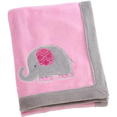 Elephant Time Pink Coral Blanket - 1