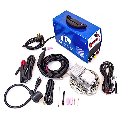 LOTOS TIG200-DC 200AMP DC Tig/Stick Welder with Pedal-fit for Stainless steel, Carbon Steel, Copper and other Color metal