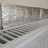 Great Ideas EshopRetailLtd-Confezione di 4 radiatore riflettore di calore argento Aluminium Foil fogli riflettenti, isolante riflettente per riflettere il calore da parete