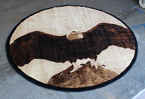 Eagle Area Rug #L 377 (5 Feet 5 Inch X 5 Feet 5 Inch) Round