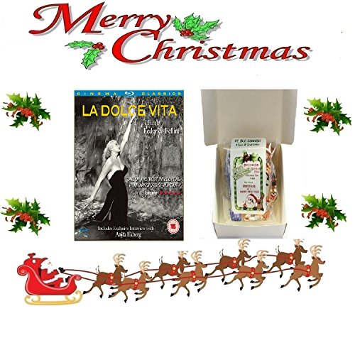 Christmas Gift Pack - La Dolce Vita [Blu-Ray] [ [Non Usa Formatted Version Region 2 Dvd] + Ye Old Cornish Christmas Sweets Gift Bag