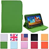 HDE Tablet Case 7 Inch Universal Folio Leather Flip Cover - Green