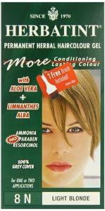 Herbatint 8N Light Blonde Permanent Herbal Hair Colour Gel 135ml
