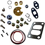 Turbo Rebuild Kit with Divided Gasket for Garrett T3 T4 T04B T04E Turbocharger 360 Degree Thrust Bearing