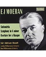 Ernest John Moeran : Sinfonietta - Symphony in G minor - Overture for a Masque