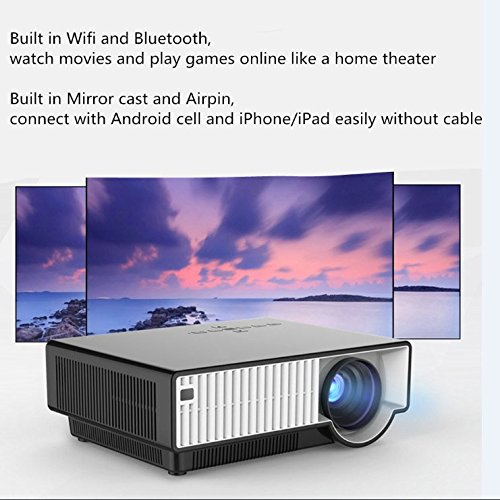 Prochosen bluetooth wireless wifi multimedia home cinema for Bluetooth projector for iphone