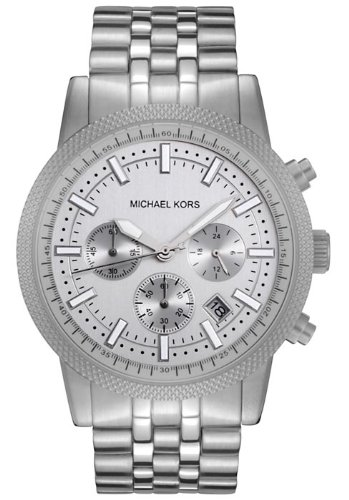 Michael Kors Men's MK8072 Silver Knurl Chronograph Watch