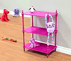 Frenchi Home Furnishing Kid s 3-Tier Shelves Purple