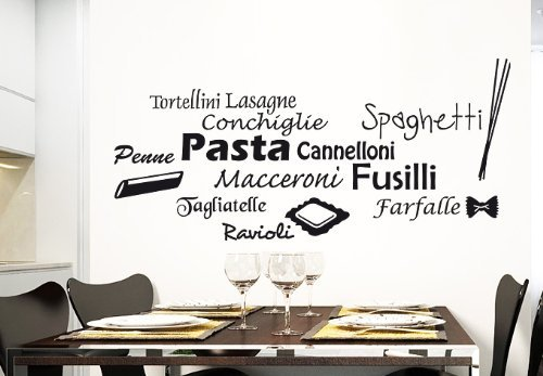 Wall Vinyl Sticker Decals Decor Art Kitchen Design Mural Words Sign Quote Pasta Pizza (Z988) by StickersForLife (Pizza Pasta Sign compare prices)
