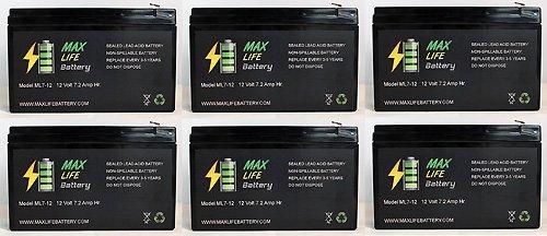 12V 7Ah Ups Battery For Best Technologies Fortress 1422 - 6 Pack