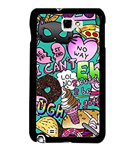 Fuson Premium 2D Back Case Cover Crazy pattern With Multi Background Degined For Samsung Galaxy Note 2::Samsung Galaxy Note 2 N7100