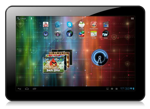 Prestigio PMP7100D3G_DUO 25,6 cm (10,1 Zoll) Tablet-PC (ARM Cortex A9, 1,6GHz, 1GB RAM, 16GB HDD, Android 4.1) schwarz
