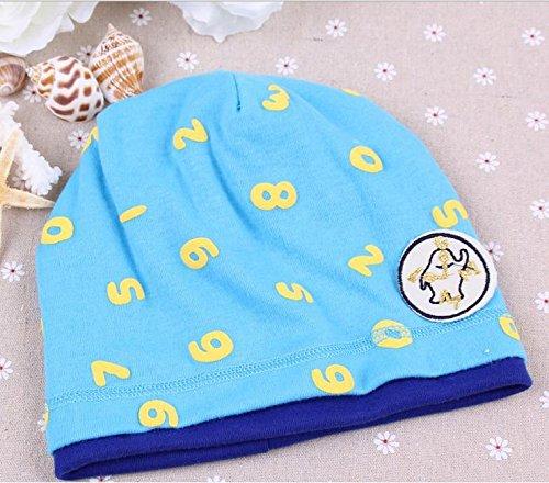 Hot Sale Winter Warm Cute Number Girls/boys Cat Hap(blue)