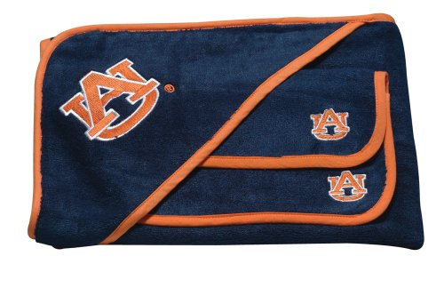 Pickles Collegiate Embroidered Wash Cloth and Hooded Towel Set, Auburn University at Amazon.com