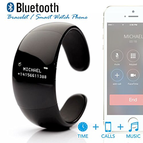 Indigi® Bluetooth Sync Smart Bracelet Phone W/ Oled Time Display For All Iphone 5S 5C 5 4S 4 (Us Seller)