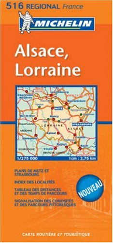 Michelin France Alsace, Lorraine (Michelin Local France Maps) (Multilingual Edition)