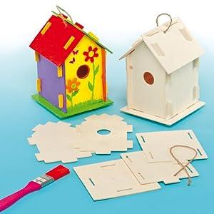 holz bastelsets vogelhaus f r kinder zum basteln und. Black Bedroom Furniture Sets. Home Design Ideas