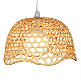 Lighting Web Company Scalloped Dome Shade in Lacquered Bamboo, Natural