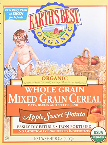 Earth's Best Whole Grain Mixed Grain Cereal Apple Sweet Potato - 8 oz. - 1