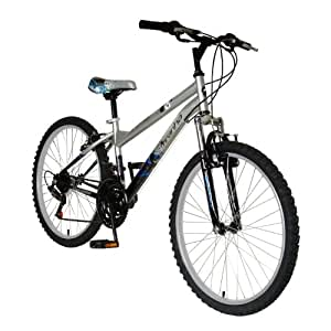 Piranha Men's Mindtrick Mountain Bike (Silver/Black, 24-Inch)