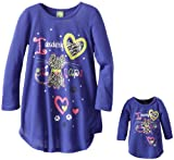 Dollie & Me Girls I Love Cat Naps Art With Glitter Sleep Gown