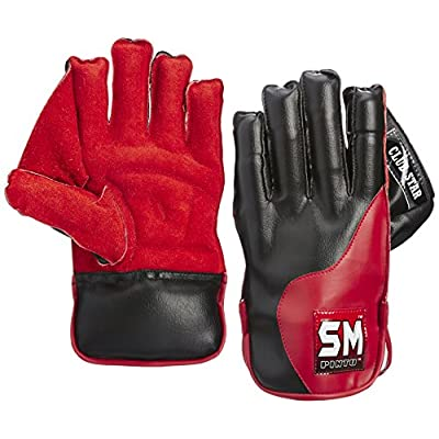 SM Club Star Wicket Keeping Gloves (Leather Palm)