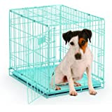 MidWest Single Door Dog iCrate, 24-Inch, Blue