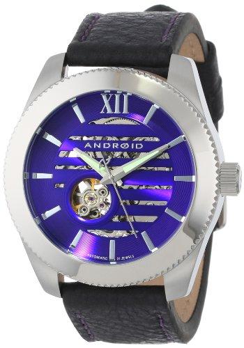 ANDROID Unisex AD662BPU Venona Analog Automatic-Self-Wind Black Watch