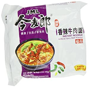 JML Instant Noodle, Artificial Spicy Beef, 4.13 Ounce (Pack of 30) from JML
