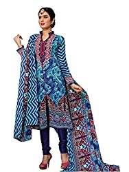 Khoobee Presents Pashmina Dress Material(Multi,Navy Blue)