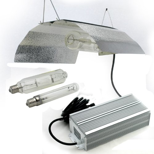 GYO Supplies GYO2002 4-Piece 400 Watt Hydroponic Reflector Grow Light Set