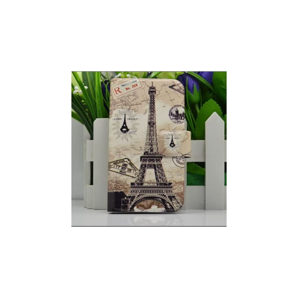 Blu Life Pure Painted Case High Quality Accessories, Leather Flip Case Cover for Blu Life Pure  (Eiffel Tower)