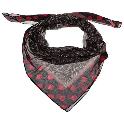 Cindy Animal Print Sciarpa Codello sciarpetta da donna sciarpa estiva Taglia unica - rosso