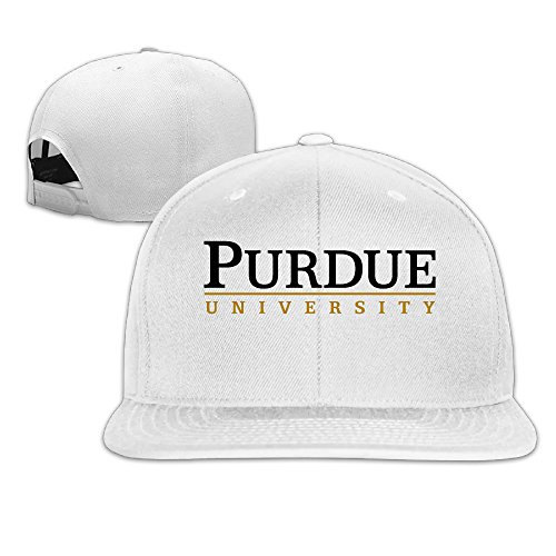 Custom Unisex-Adult Purdue University Snapback Hip Hop Cap Hats White (Popcorn The Lamb compare prices)
