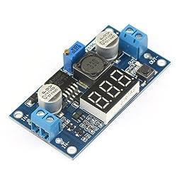 See Kimdrox Adjustable Voltage Regulator DC/DC Buck Converter DC 4.0-40V to 1.25-37V 5/12V Volt Stabilizers Car Battery Step Down Variable Volt Power Supply with Red Digital LED Panel Voltmeter Display Details