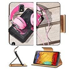 buy Luxlady Premium Samsung Galaxy Note 3 Flip Case Female Pink Headphones And Tablet Pc For Distance Education Mobile Leisure Image 29494284 Pu Leather Card Holder Carryingo
