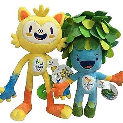 2016可愛い リオデジャネイロ オリンピック マスコット ぬいぐるみおもちゃ—Vinicius and Tom (2 pcs)