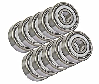 VXB Miniature Ball Bearing, Chrome Steel, Double Shielded, Inch