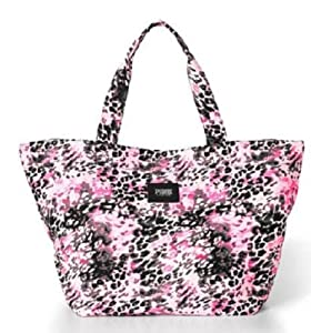 Victoria's Secret Pink Tote Bag Handbag Pink Leopard