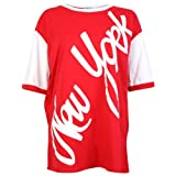 My1stWish Womens 94M Printed Oversized Ladies American Football Jersey T-shirt