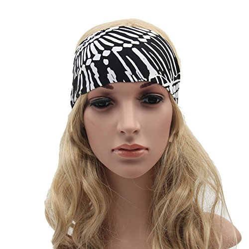 Mookiraer Fashionable Yoga Headbands for Women - Non Slip Running Headbands Perfect for All Fitness Activities Including Sports, Exercise and Any Workout. Super Soft Wide Headbands that Stay In Place (#06)