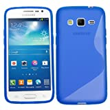 Samrick S Wave Hydro Gel Protective Case, Screen Protector, Microfibre Cloth, Blue High Capactive Mini Stylus Pen for Samsung Galaxy Xpress 2 - Blue