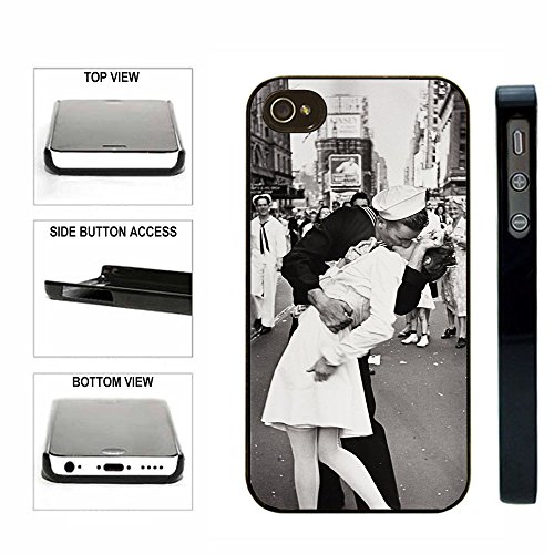 CorpCase-SlimFit-Snap-On-Case-iPhone-4-4S-Case-Times-Square-Kiss-Sailor-Kissing-Nurse-Ww2-For-Teens-Girls-Women-Fits-All-Carriers-iPhone-4-iPhone-4S