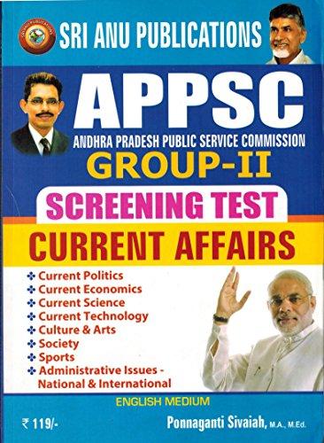 APPSC Group-II Screening Test Current Affairs [ ENGLISH MEDIUM ]