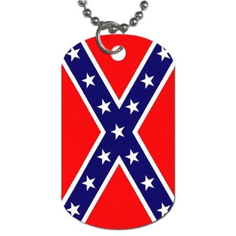 Confederate Flag Dog Tag