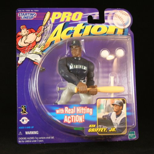 KEN GRIFFEY JR / SEATTLE MARINERS With Real Hitting Action STARTING LINEUP PRO ACTION MLB Baseball Figure