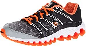 K-Swiss Men's Tubes 100 Running Shoe,Orange/Bright Yellow/Black,9 M US