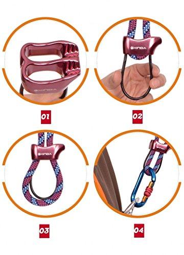 bipy-Descendeur-autofreinant-Belay-Device-descalade-de-protection-Rouge