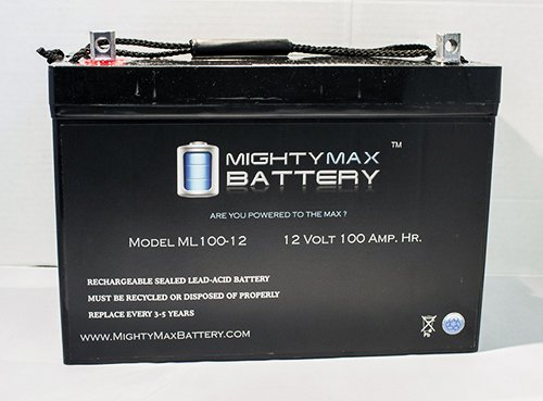 12V 100AH BATTERY FOR SOLAR WIND DEEP CYCLE VRLA 12V 24V 48V - Mighty Max Battery brand product (Battery 12v Deep Cycle compare prices)